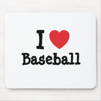 I love Baseball heart custom personalized Mouse Pads