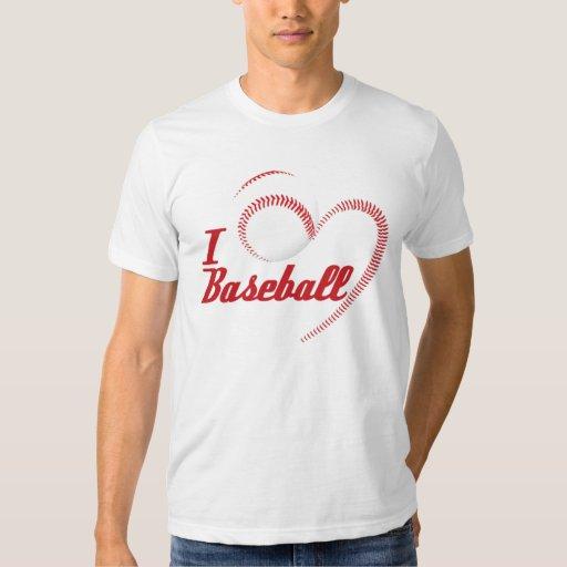 I Love Baseball Heart Shirt