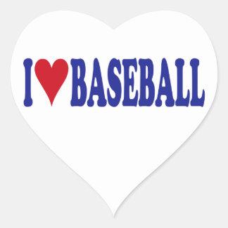 I Love Baseball Heart Sticker