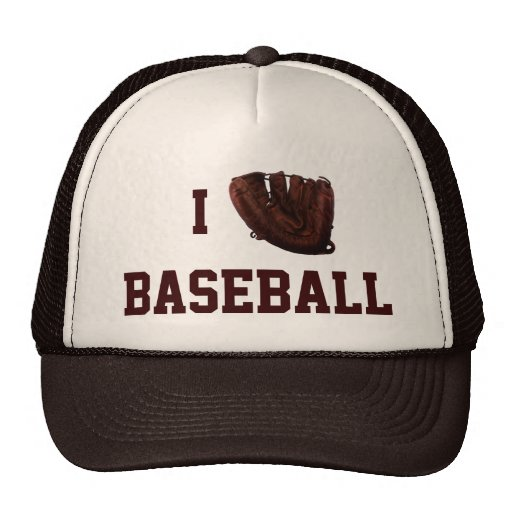 I Love Baseball, I Glove Baseball Trucker Hat