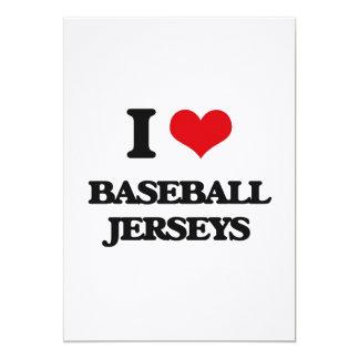 I Love Baseball Jerseys Card