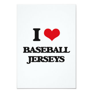 I Love Baseball Jerseys Customized Announcement Card