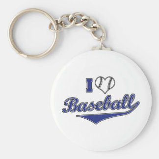 I Love Baseball Keychain