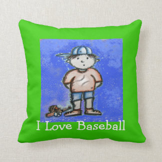 I Love Baseball Kids Pillow