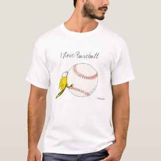 I love BASEBALL! Kitten chewy Baseball T-Shirt