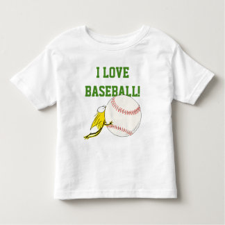 I love BASEBALL! Kitten chewy Baseball Toddler T-shirt