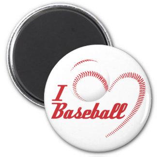 I Love Baseball Magnet