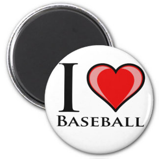 I Love Baseball Magnet