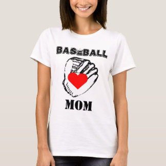 I Love Baseball Mom T-Shirt