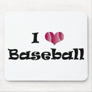 I love Baseball Mouse Pad
