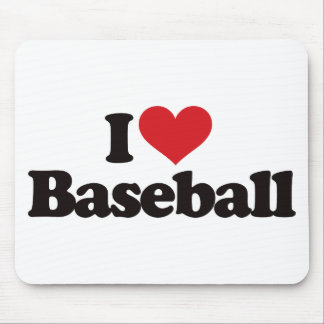 I Love Baseball Mouse Pad