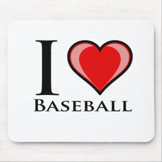I Love Baseball Mousepad
