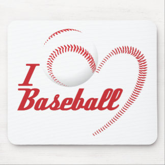 I Love Baseball Mousepad