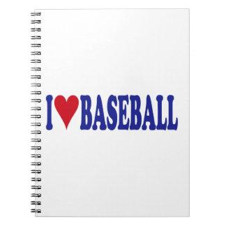 I Love Baseball Notebook
