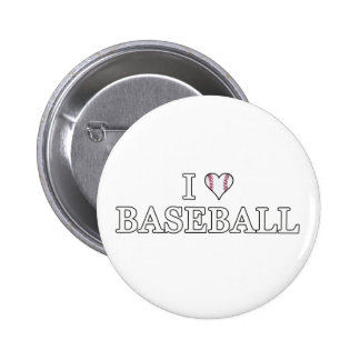 I Love Baseball Pinback Button