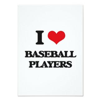 I Love Baseball Players Cards