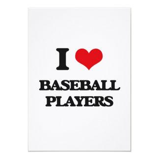 I Love Baseball Players Card