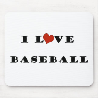 I Love Baseball.png Mouse Pad