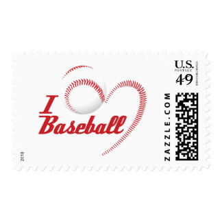 I Love Baseball Postage