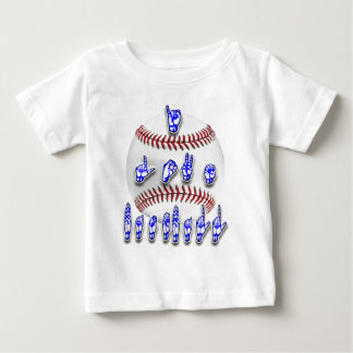 I Love Baseball - Sign language Baby T-Shirt