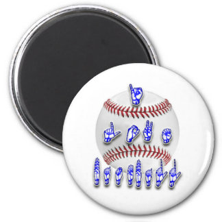 I Love Baseball - Sign language Magnet