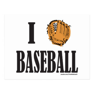 I LOVE BASEBALL T-SHIRTS AND GIFTS POSTCARD