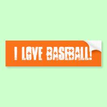 'I Love Baseball' Wall / Laptop / Car Bumper Sticker!