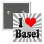 I Love Basel, Switzerland Button