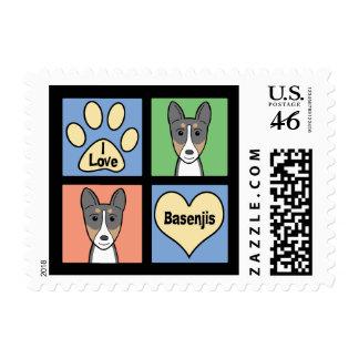 I Love Basenjis Postage Stamp