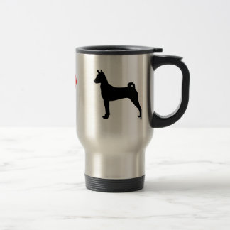 I Love Basenjis Travel Mug