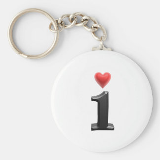 I love basic round button keychain