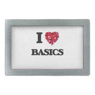 I Love Basics Belt Buckles