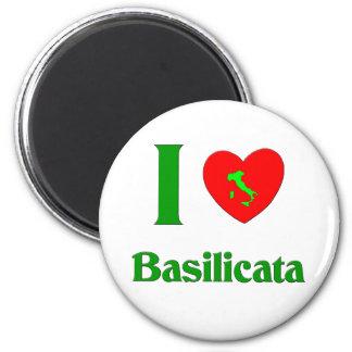 I Love Basilicata 2 Inch Round Magnet