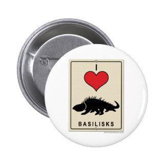 I Love Basilisks Pin