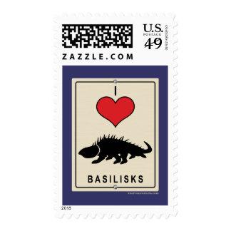 I Love Basilisks Postage