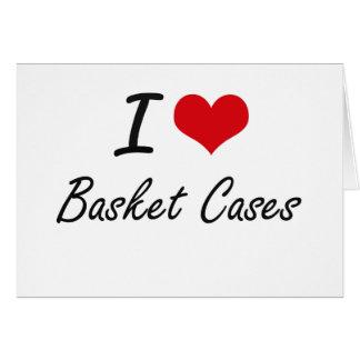 I Love Basket Cases Artistic Design Stationery Note Card