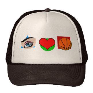 I love basket trucker hat