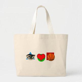 I  love basket large tote bag