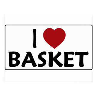I Love Basket Postcard