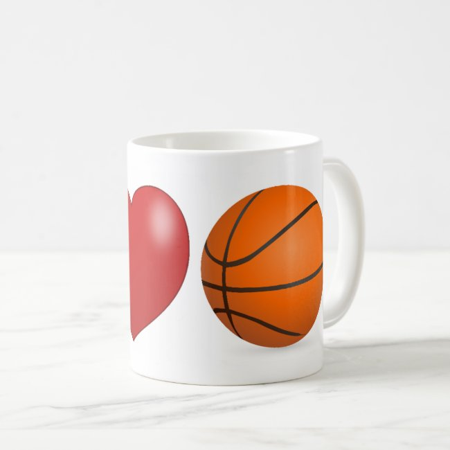 I Love Basketball 3D Mug