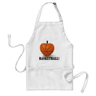 I Love Basketball Adult Apron