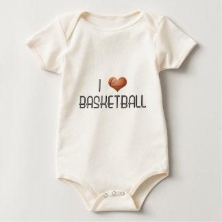 I Love Basketball Baby Bodysuit