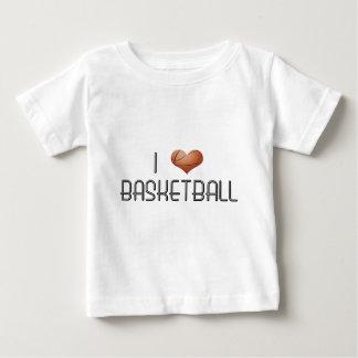I Love Basketball Baby T-Shirt
