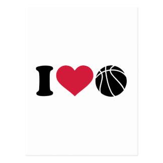 I love Basketball ball Postcard