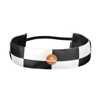 I love basketball black white checkers athletic headbands