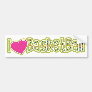 I Love Basketball Bumper Sticker