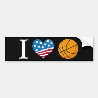 I Love Basketball - bumper sticker Car Bumper Sticker