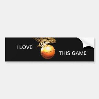 I Love Basketball Bumper Stickers