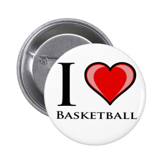 I Love Basketball Pinback Buttons