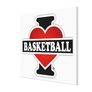 I Love Basketball Canvas Print